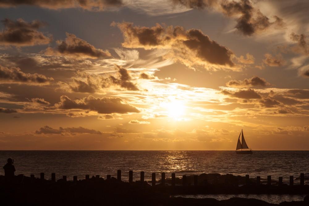 Sunset in Agaete. Gran Canaria Spain